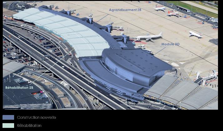 Un double projet : réhabiliter le terminal 2B et créer une jonction entre les terminaux B et D