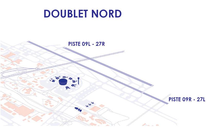 Doublet de pistes Nord à aéroport Paris-Charles de Gaulle
