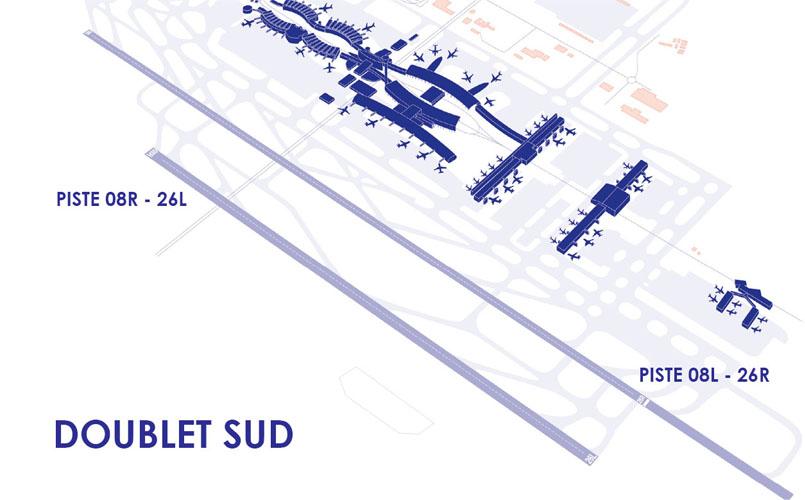 Doublet de pistes Sud à aéroport Paris-Charles de Gaulle