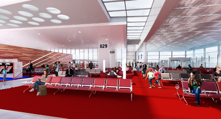 Salle d'embarquement – terminal 2B