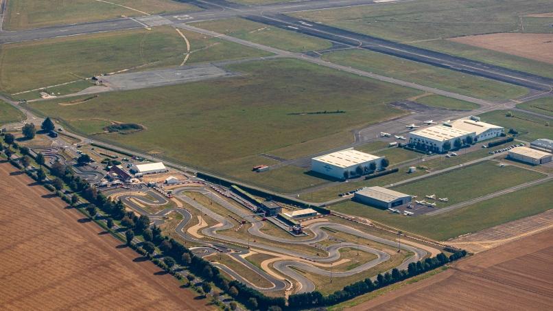 Aérodrome de Pontoise, vue aérienne