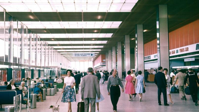 Le Grand Hall du rez-de-chaussée en 1961