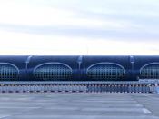 Vue extérieure du Terminal 2F côté pistes